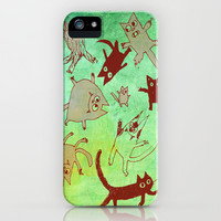 levitating kitties iPhone & iPod Case by Marianna Tankelevich | Society6