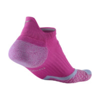 Nike Elite Cushioned No-Show Tab Running Socks Size Smallize 5 (Pink)