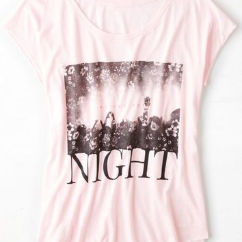 AEO 's Photo Graphic T-shirt (Rose Mist)