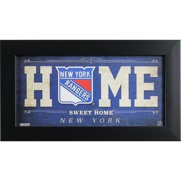 NOVO5 New York Rangers 6x12 Home Sweet Home Sign