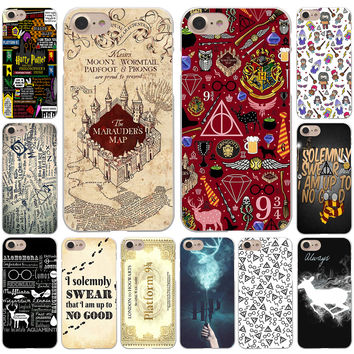 Harry Potter Deathly Hallows Hard White Cover Case for iPhone 7 7 Plus 6 6S Plus 5 5S SE 4 4S