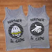 Partner in Crime Inspired of Disney Woman Couples Tank Top, Cute Couples Tank Top, Awesome Couples Tank Top