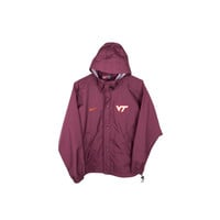 NIKE VIRGINIA TECH rain jacket - seam sealed - nike shield - hokies - shell - parka - vt state college logo - small - medium