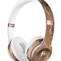 Horizontal Weathered Woodgrain Full-Body Skin Kit for the Beats by Dre Solo 3 Wireless Headphones