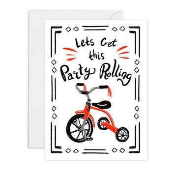 Party Rolling - Birthday Card