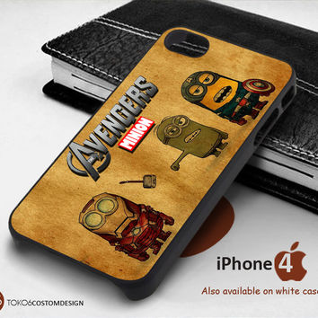 The Avengers Minion Hero Case for iPhone 4/4S, iPhone 5/5S, iPhone 6, iPod 4, iPod 5, Samsung Galaxy Note 3, Galaxy Note 4, Galaxy S3, Galaxy S4, Galaxy S5, Galaxy S6, Phone Case
