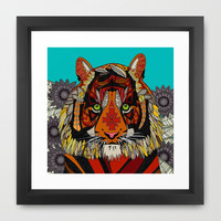 tiger chief Framed Art Print by Sharon Turner