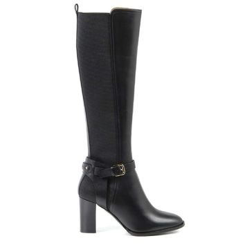 Ralph Lauren Womens High Boot MELA SPORT CALF BLACK