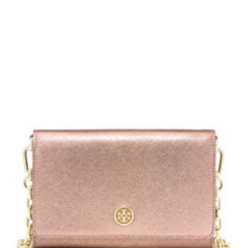 Tory Burch ROBINSON CHAIN WALLET in Rose Gold in Rose Gold - Avenue K