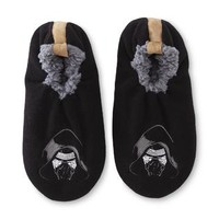Men's Kylo Ren Black Slipper Socks - Kmart