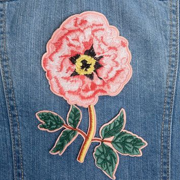Orelia Large Flower Embroidery Badge at asos.com