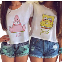 Best Friends Spongebob Crop Tops
