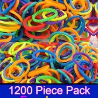 1200 Count Rubber Band Refills for Rainbow Looms - Assorted Colors:Amazon:Everything Else