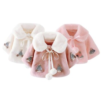 Infant Baby Girls Cute Pink White Princess Clothing Cozy Winter Coat Soft Warmer Jacket Super Warm Winer Sweet