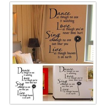 Live Wall Sticker Decals Sing Decor New Latest Stickers Stickers HG-WS-1578 Love Fashion Hot Dance Accessory Vinyl Decoration Re