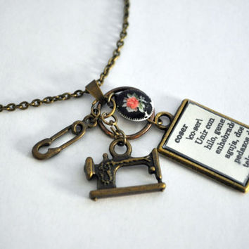 Sewing Machine Necklace Dictionary Collection by Maguida on Etsy