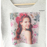 Lana Del Rey Popular American Singer Music Alternative Rock Hip Hop Pop Women Top Wide Crop Fashion T shirt