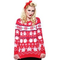 Adventure Time: Christmas Jumper (Red)