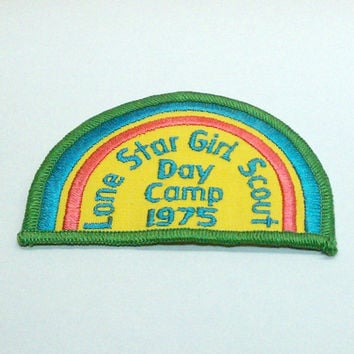 1975 Lone Star Girl Scout Rainbow Patch by VintageWoods on Etsy