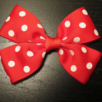 Minnie Mouse Bow Disney Inspired by bulldogsenior08 on Etsy