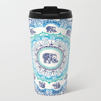 Lucky Elephant Metal Travel Mug by rskinner1122