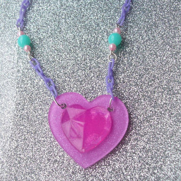 Jewel Heart  Necklace
