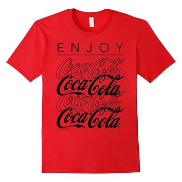 Coca-Cola Enjoy and Repeat Logo Graphic T-Shirt