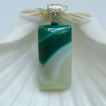 Green & White Onyx Agate