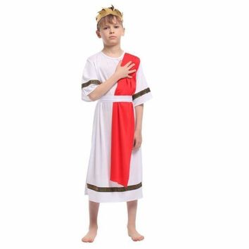 PEAPON Shanghai Story Kids Halloween Costumes Roman Prince Colthing Set Boy Table Costumes Small Roman Noble King Cosplay Costume