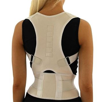 Men Orthopedic Back Support Belt Correct Posture Brace Correcteur de Posture 10 Magnets XL XXL