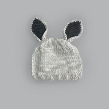Bamboo Bailey Bunny Knit Hat