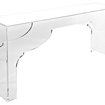 "Console Marrakesh 30"", Acrylic / Lucite, Console Table"