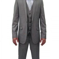 Mens Lite Grey Three Piece Suit (NX3)