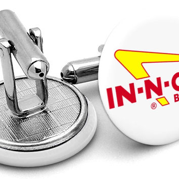 In-N-Out In Out Burger Cufflinks