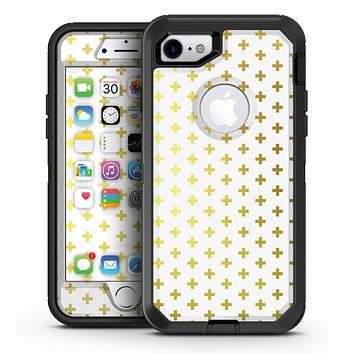The Gold Mirco Cross Pattern - iPhone 7 or 7 Plus OtterBox Defender Case Skin Decal Kit