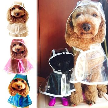 Soft Transparent Dog Raincoat