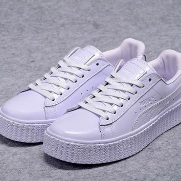 Fenty Rihanna by Puma Leather Creepers Purple Shoes For Mens Womens