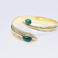 Brass Arm Band With Gemstone