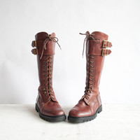 $175.00 Vintage Lace Up Boots / Cable & Co Boots / by GingerRootVintage