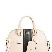 Tory Burch 'Mini Robinson' Colorblocked Leather Dome Satchel