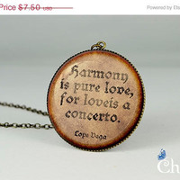 ON SALE: famous quotes resin pendant,handmade pendant charms,vintage style photo pendant- Q0049CP