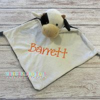 Cow Cubbie® Wee Blanket - Personalized Security Blanket, Embroidered, Personalized Toy, Stuffed Animal, Embroidered, Security Blanket