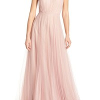 Monique Lhuillier Bridesmaids Strapless Tulle Gown | Nordstrom