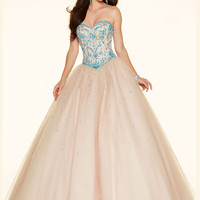 Sweetheart Beaded Lace Paparazzi Prom Dress 98059