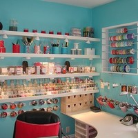 From Desire to Inspire website. Long shelving with lighting underneath good thinking!