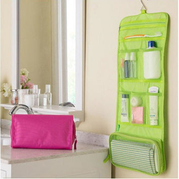 Portable Hanging Organizer Bag Foldable Cosmetic Makeup Case Storage Traveling Toiletry Bags Wash Bathroom Accessories RD840122