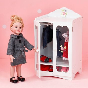 "Olivia's Little World - Little Princess 18"" Doll Classic Closet with Hangers"