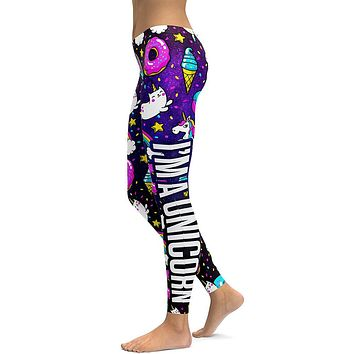 Rainbow Cat Donut Leggings