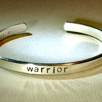 Warrior cuff bracelet in sterling silver