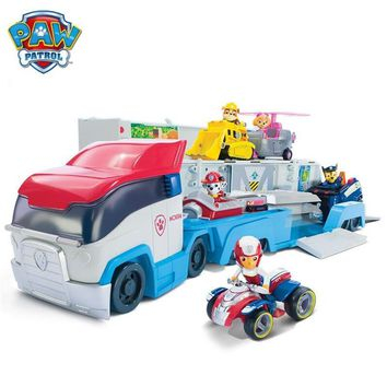 Paw Patrol Puppy Patrol Dog Doll car Cartoon Play Set toys Puppy Action Figure Patrulla Canina Juguetes kids toy Genuine Hot